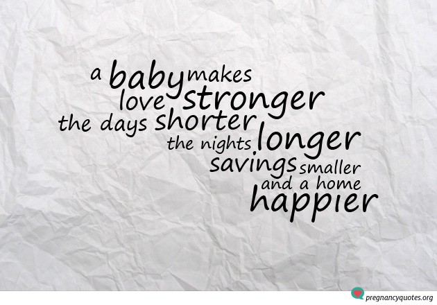 A baby makes love stronger