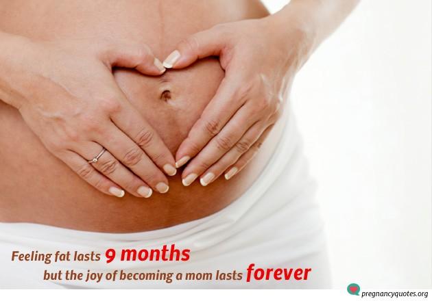 Feeling fat lasts 9 months