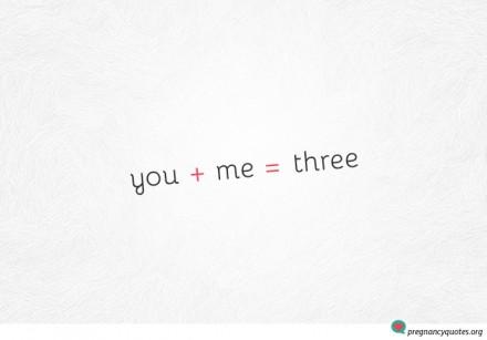 You + Me = Three